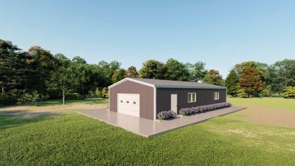 Base building packages 30x60 metal building rendering 3