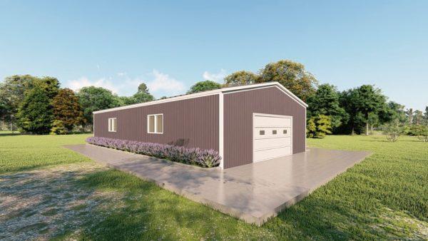 Base building packages 30x60 metal building rendering 4