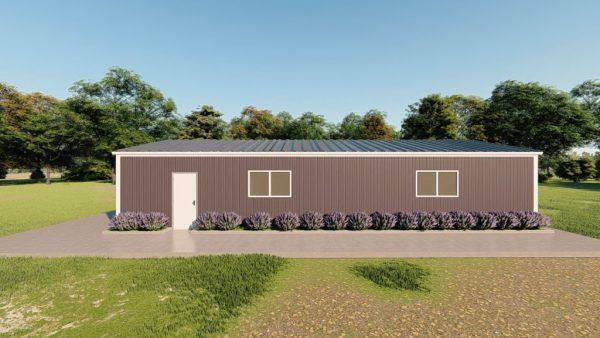 Base building packages 30x60 metal building rendering 5