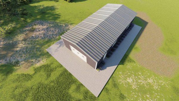 Base building packages 30x60 metal building rendering 6
