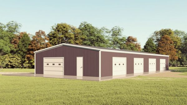 Base building packages 40x100 metal building rendering 1