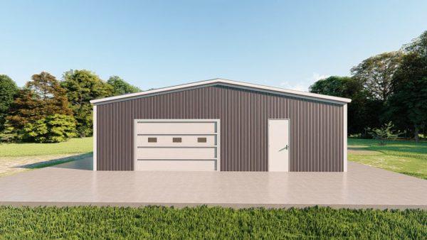 Base building packages 40x100 metal building rendering 2