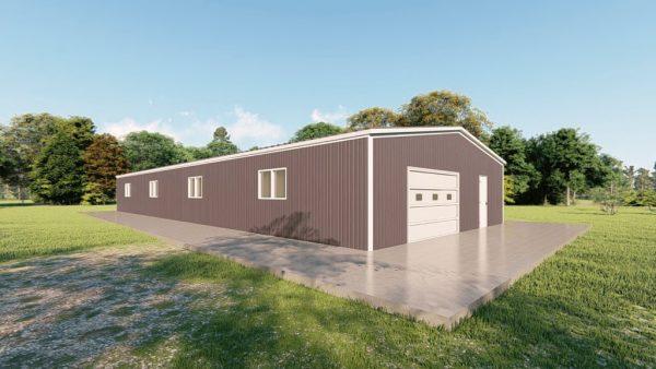 Base building packages 40x100 metal building rendering 4