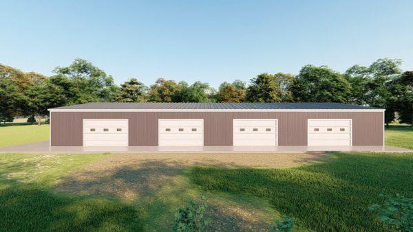 Base building packages 40x100 metal building rendering 5