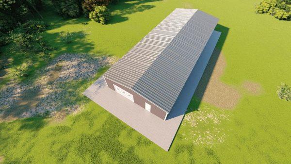Base building packages 40x100 metal building rendering 6