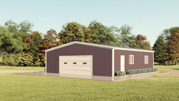Base building packages 40x40 metal building rendering 1