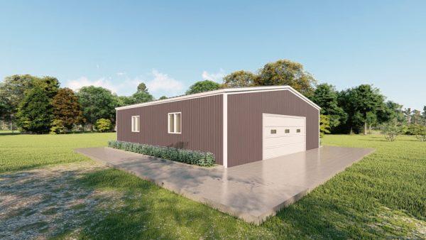 Base building packages 40x40 metal building rendering 4