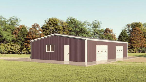 Base building packages 40x60 metal building rendering 1