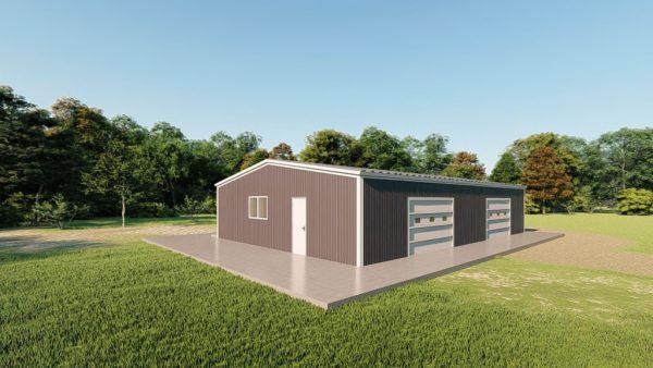Base building packages 40x60 metal building rendering 3