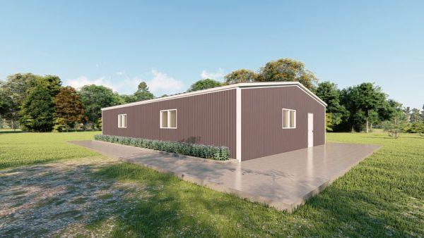 Base building packages 40x60 metal building rendering 4