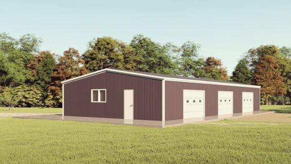 Base building packages 40x80 metal building rendering 1