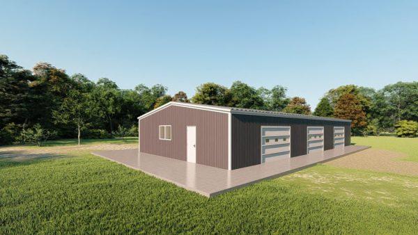 Base building packages 40x80 metal building rendering 3