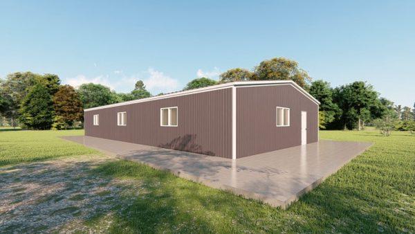 Base building packages 40x80 metal building rendering 4