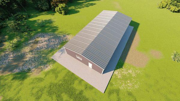 Base building packages 40x80 metal building rendering 6