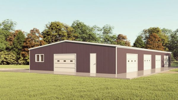 Base building packages 50x100 metal building rendering 1
