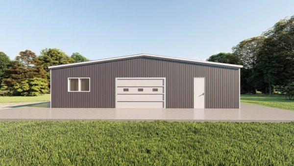 Base building packages 50x100 metal building rendering 2