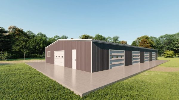 Base building packages 50x100 metal building rendering 3
