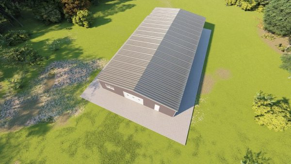 Base building packages 50x100 metal building rendering 6