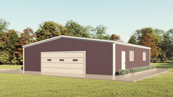 Base building packages 50x50 metal building rendering 1