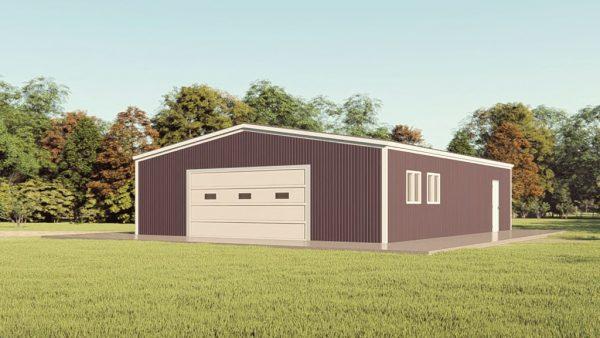 Base building packages 50x60 metal building rendering 1