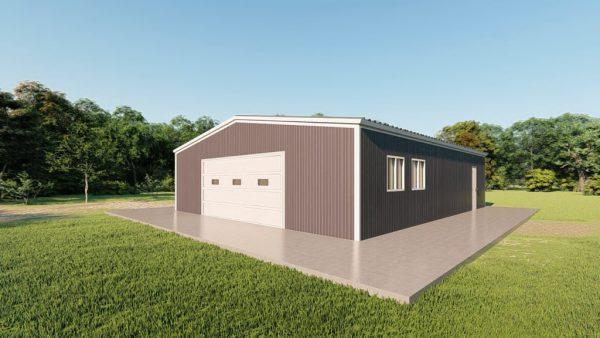 Base building packages 50x60 metal building rendering 3