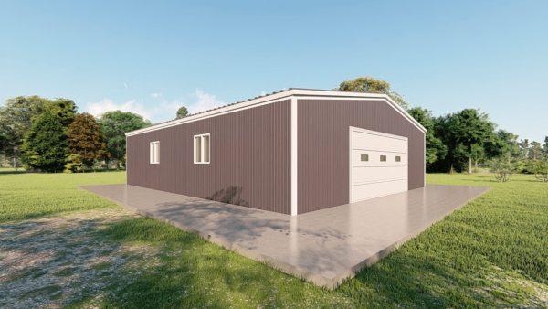 Base building packages 50x60 metal building rendering 4