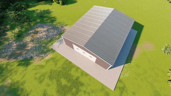 Base building packages 50x60 metal building rendering 6