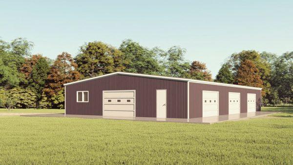 Base building packages 50x80 metal building rendering 1