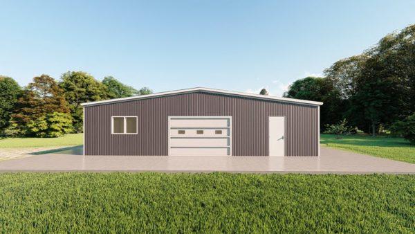 Base building packages 50x80 metal building rendering 2