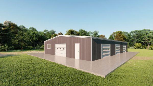 Base building packages 50x80 metal building rendering 3