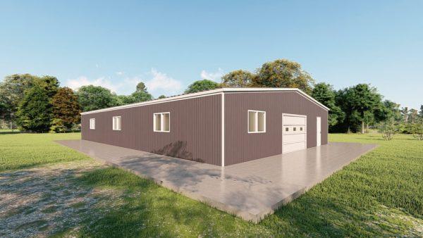Base building packages 50x80 metal building rendering 4