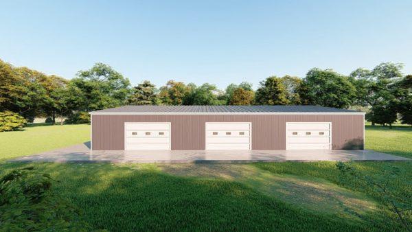 Base building packages 50x80 metal building rendering 5
