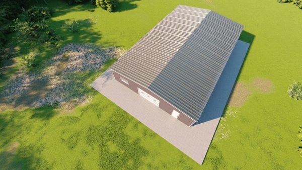 Base building packages 50x80 metal building rendering 6