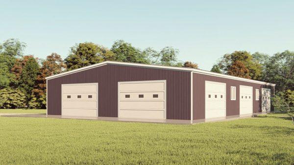 Base building packages 60x100 metal building rendering 1