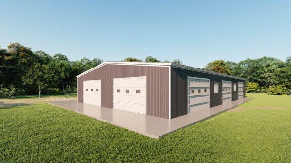 Base building packages 60x100 metal building rendering 3