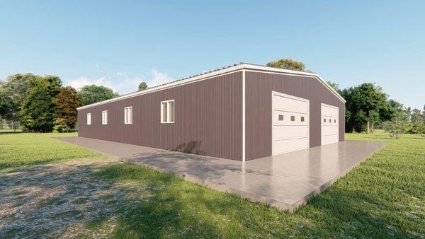 Base building packages 60x100 metal building rendering 4