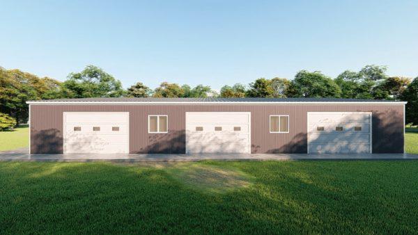 Base building packages 60x100 metal building rendering 5