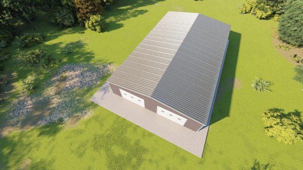 Base building packages 60x100 metal building rendering 6