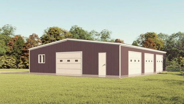 Base building packages 60x80 metal building rendering 1