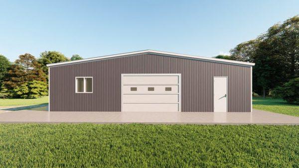 Base building packages 60x80 metal building rendering 2