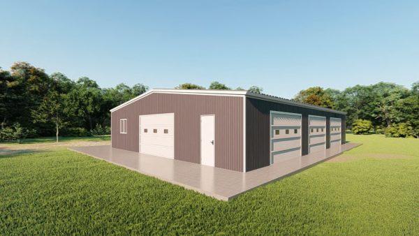 Base building packages 60x80 metal building rendering 3
