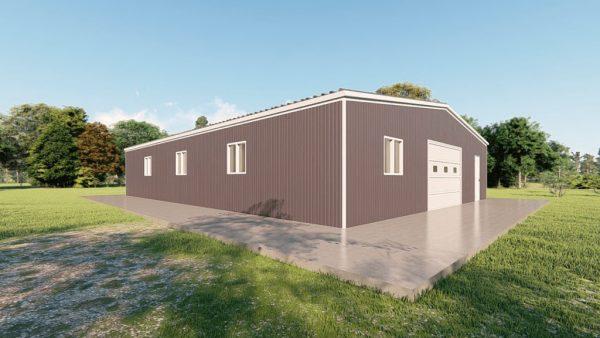 Base building packages 60x80 metal building rendering 4