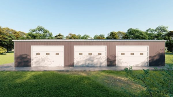 Base building packages 60x80 metal building rendering 5
