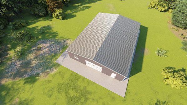 Base building packages 60x80 metal building rendering 6