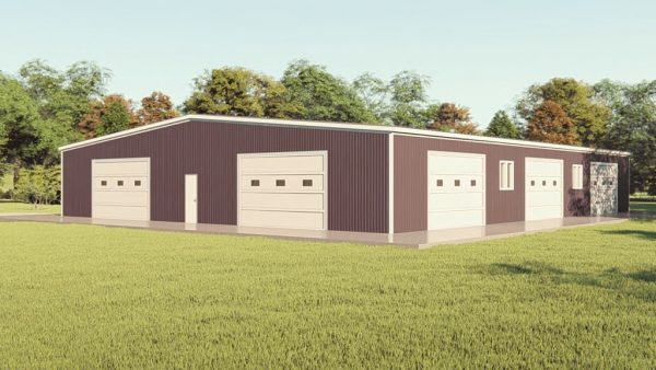 Base building packages 80x100 metal building rendering 1
