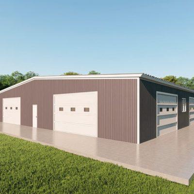 Base building packages 80x100 metal building rendering 3