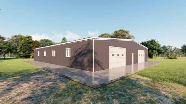 Base building packages 80x100 metal building rendering 4