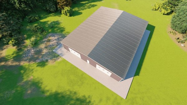 Base building packages 80x100 metal building rendering 6