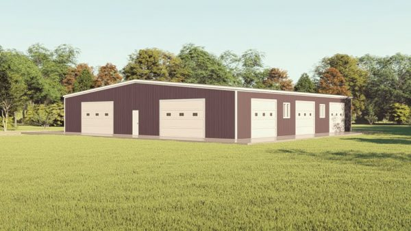 Base building packages 80x80 metal building rendering 1