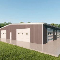 Base building packages 80x80 metal building rendering 3